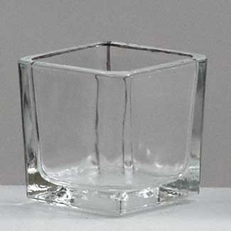 "2"" SQUARE VOTIVE GLASS"
