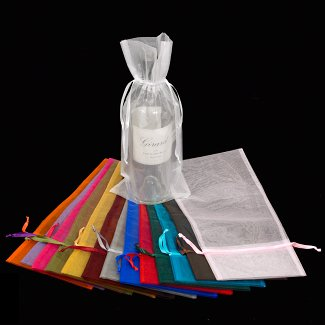 "15"" ORGANZA BOTTLE BAG"