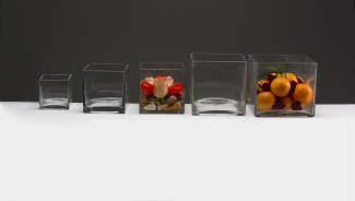 Glass Cube Vases: Rectangular Glass Vases: Square Glass Tray