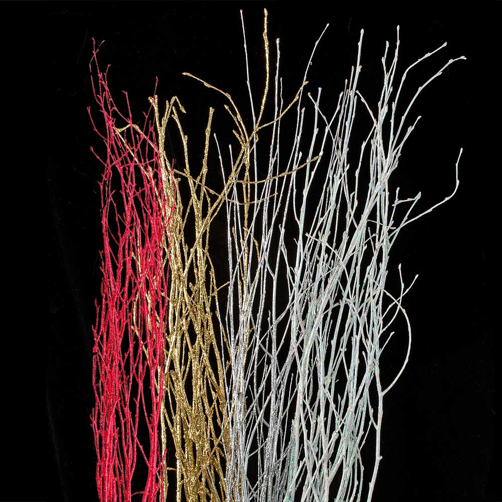 GLITTERED BIRCH TWIGS