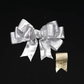 "1 3/8"" WIRED METALLIC SILK RIBBON"