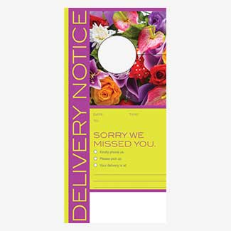 DELIVERY NOTICE TAGS