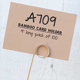 "9"" BAMBOO CARD HOLDER"