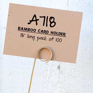 "18"" BAMBOO CARD HOLDER"