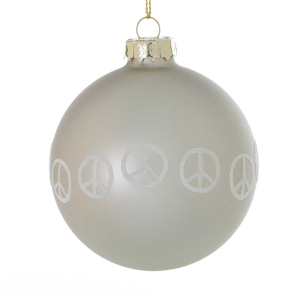 "PEACEFUL ORNAMENT 3"" GREY"