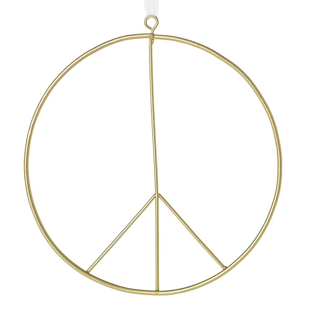 PEACE SIGN ORNAMENT 6""