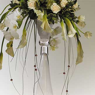 "CLARINET VASE 11""X40"" CLEAR"