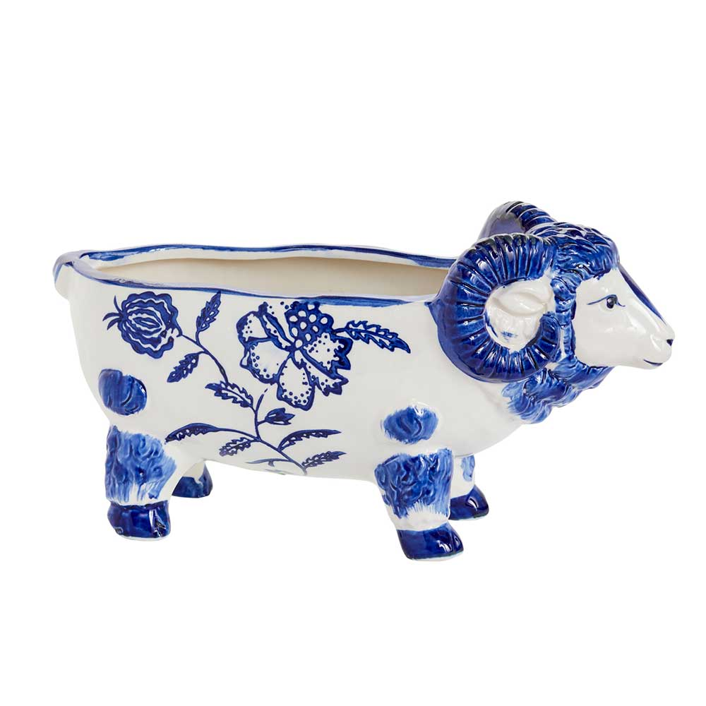 "BETTY BLUE PLANTER 12.75""X5""X"