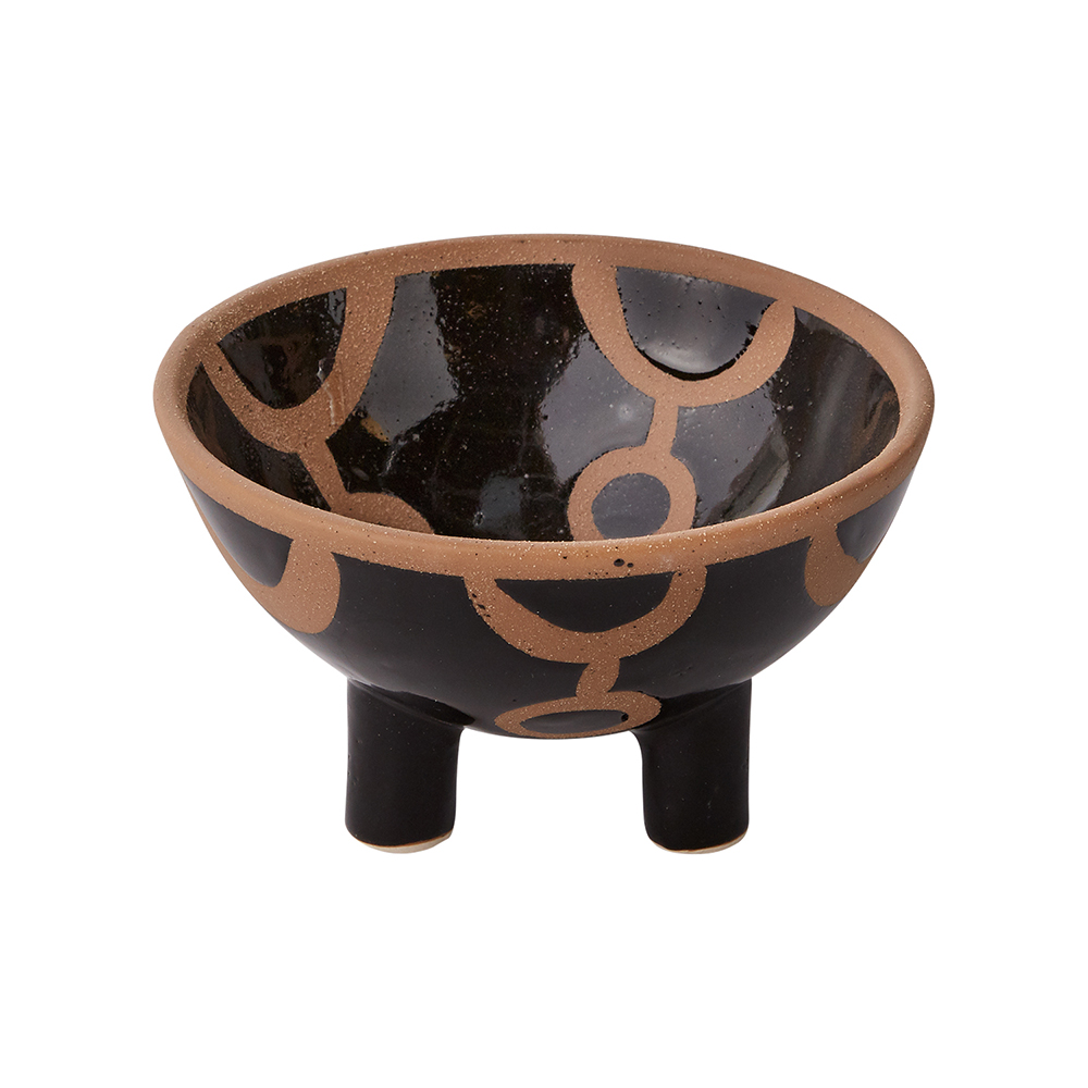 "GAHNA FOOTED BOWL 6""X 3.5"""