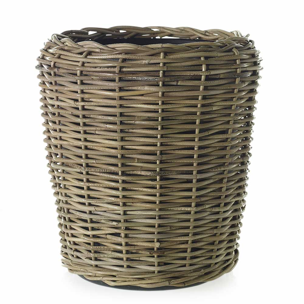 "RATTAN BASKET 18""X 19.5"" GREY"