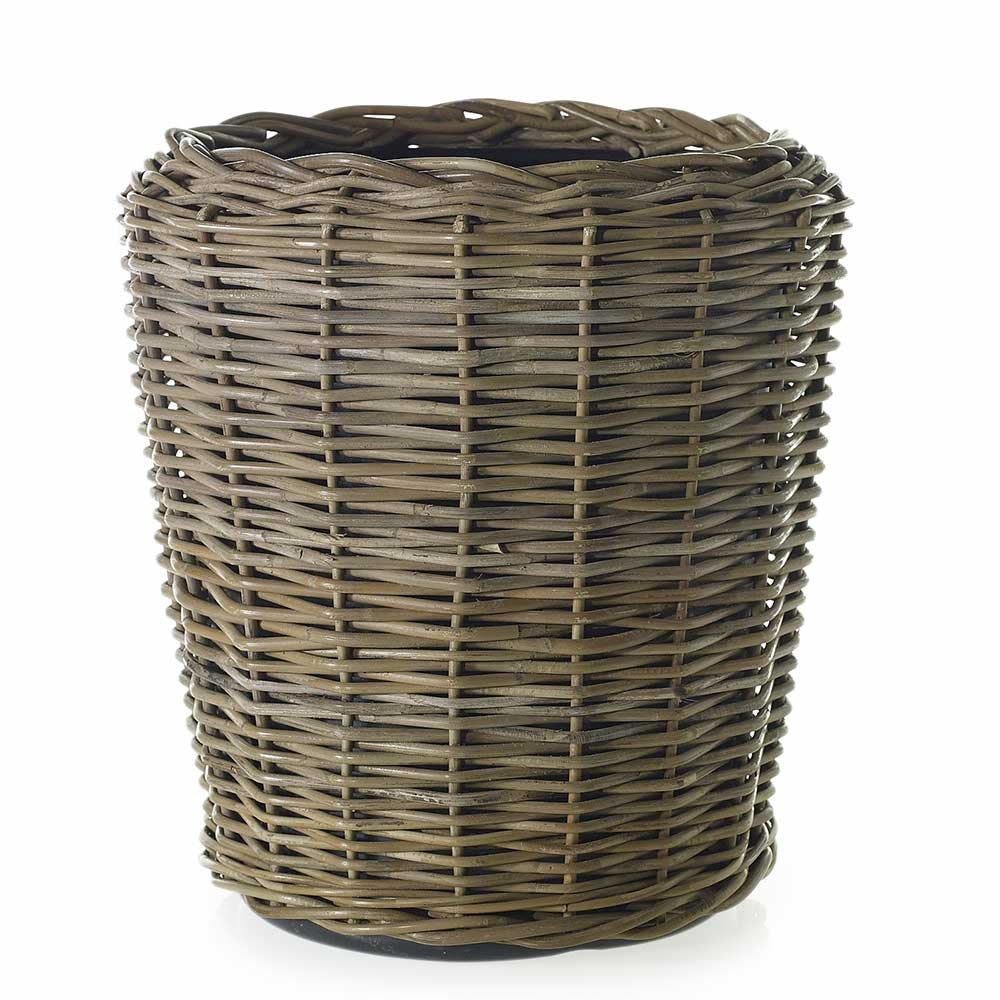 "RATTAN BASKET 20""X 20.5"" GREY"