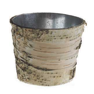 "5"" BIRCH POT WITH ZINC"