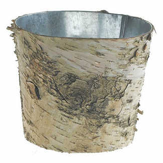 "7""X 6"" BIRCH POT WITH ZINC"