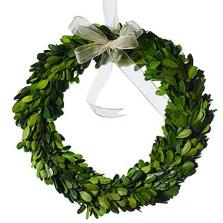 MINI BOXWOOD WREATH 10""