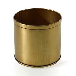 "BRYANT POT 3.25""X 3"" GOLD"