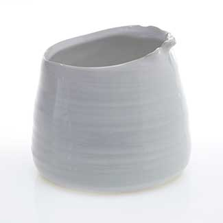 "TEGAN POT 5.5""X4.5"" WHITE"