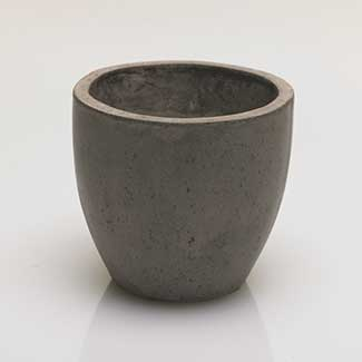 "NEWPORT POT 6""X 5.5"" GREY"