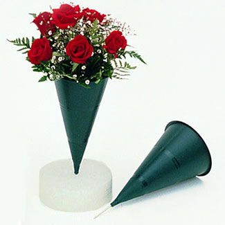 9 Quot Cone Cemetery Vases Floral Supply Syndicate Floral Gift Basket And Decorative Packaging