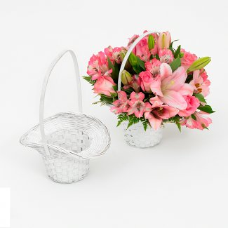 LG WHITE PRINCESS BASKET