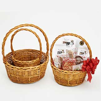 ROUND TOASTED WILLOW BASKET