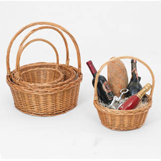 ROUND TOASTED WILLOW BASKETS