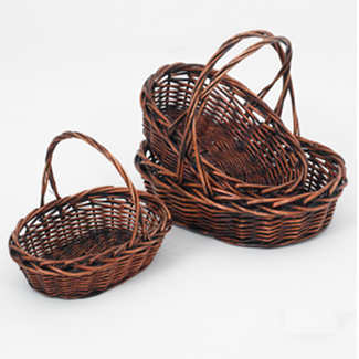 STAINED OVAL BASKETS