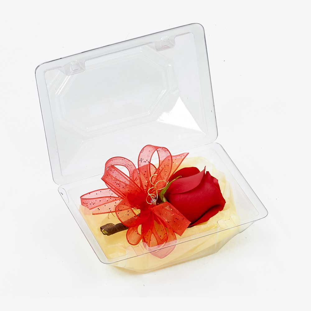 "8"" CLEAR CORSAGE BOX"