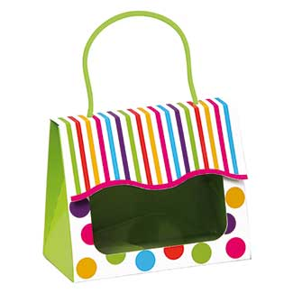 GUMBALL SMALL GIFT TOTE              Size: 5 1/8