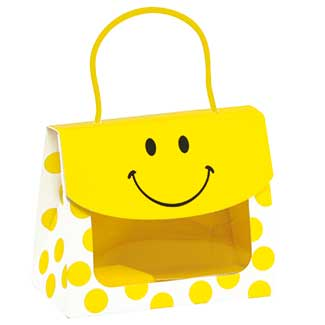 SMILEY SMALL GIFT TOTE               Size: 5 1/8