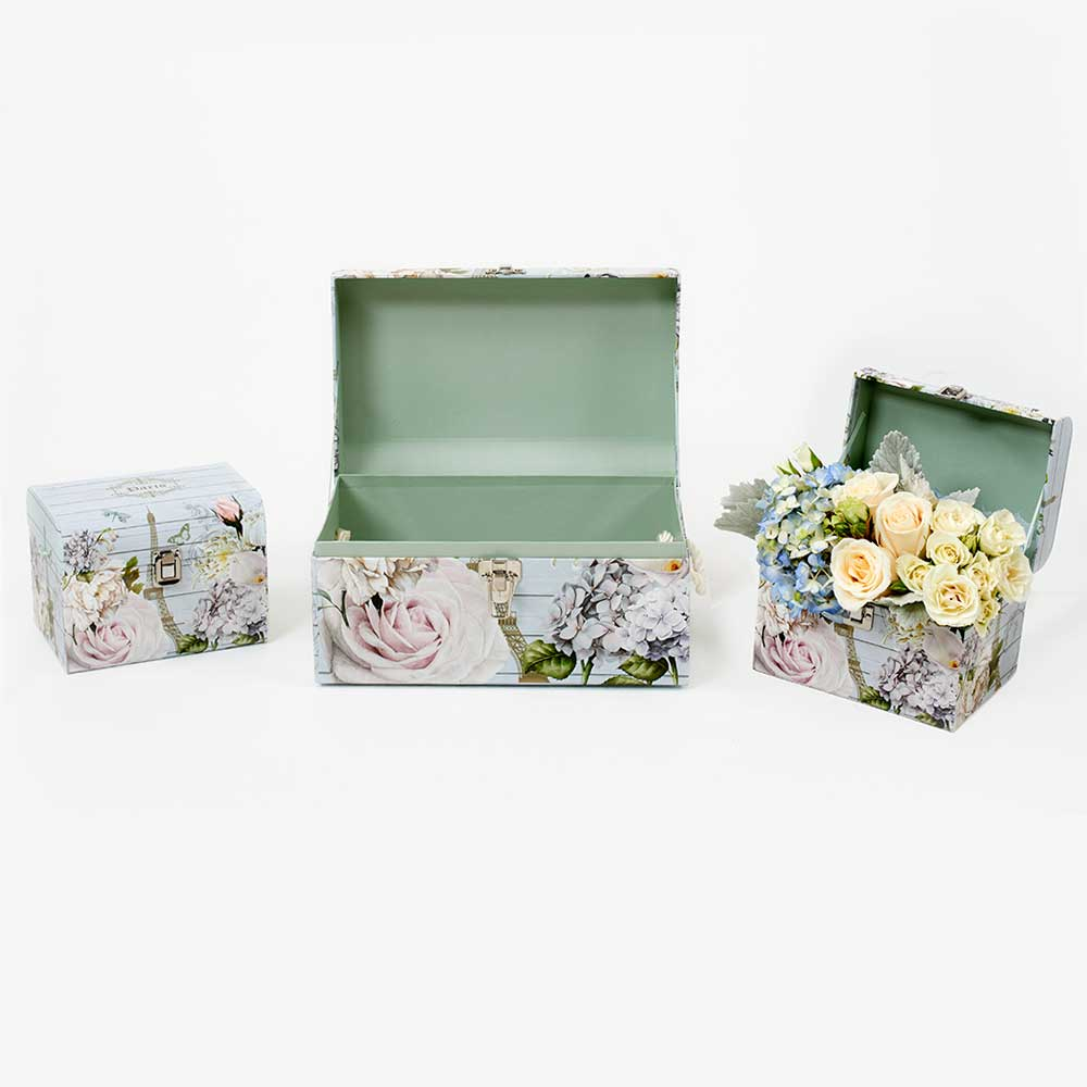 CHEST BOXES, ROSES