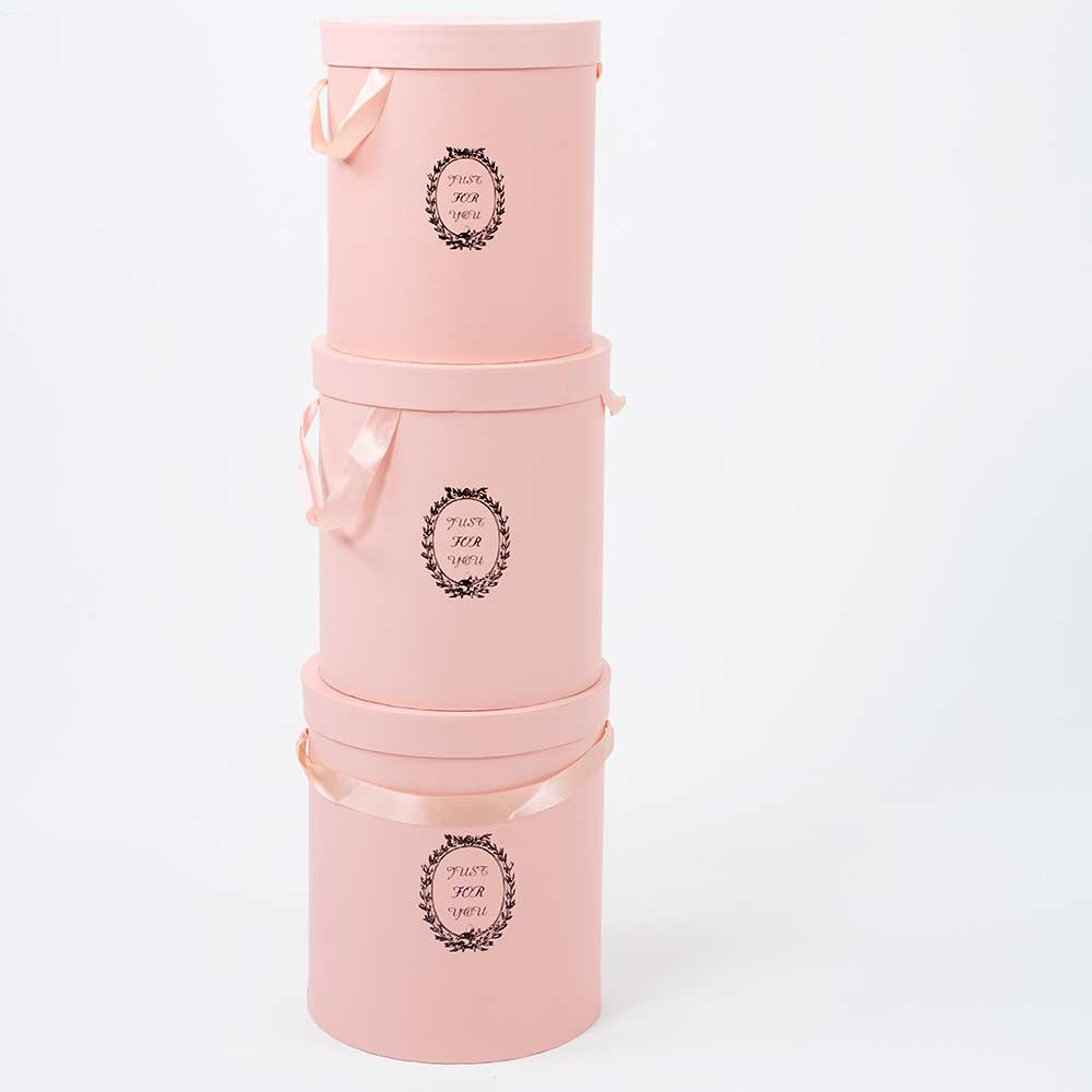 FLORAL/HAT BOXES,PINK