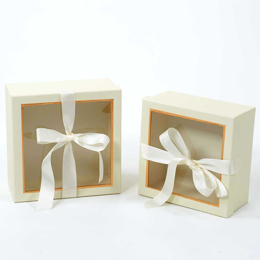 WIN. GIFT BOXES,IVORY