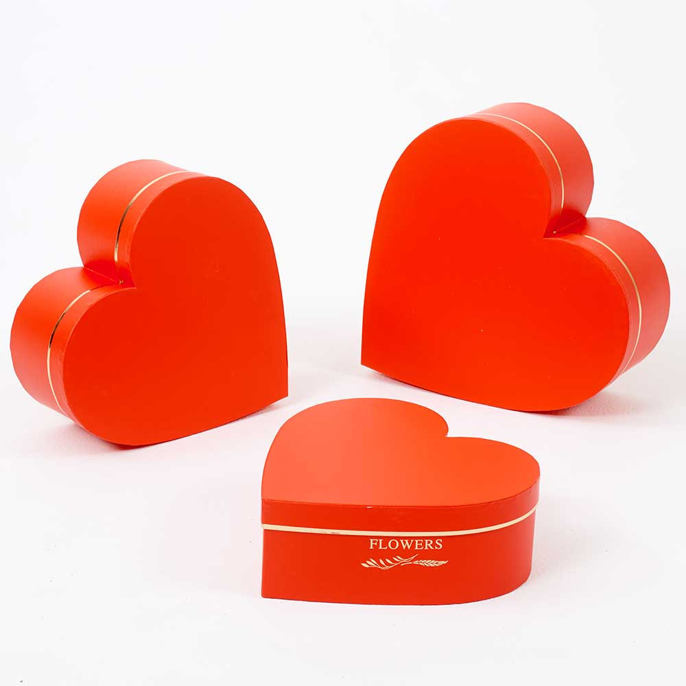HEART BOXES,RED