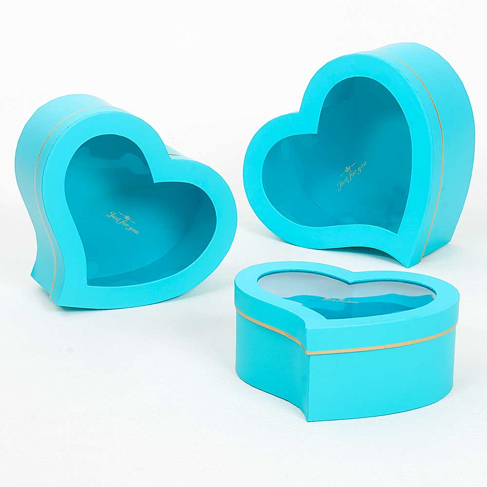 WIN. HEART BOXES,TIF.BLUE