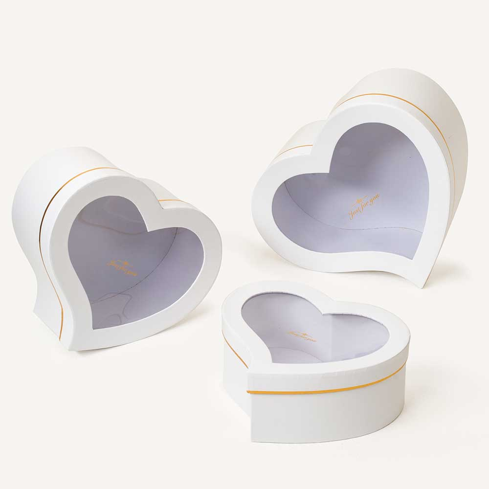 WIN. HEART BOXES,WHITE