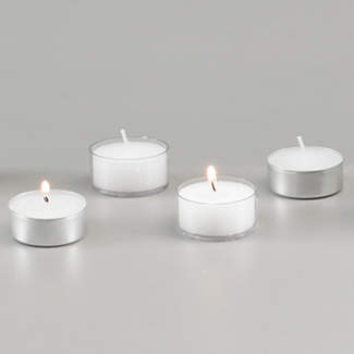 PLASTIC CUP TEA LIGHT CANDLES