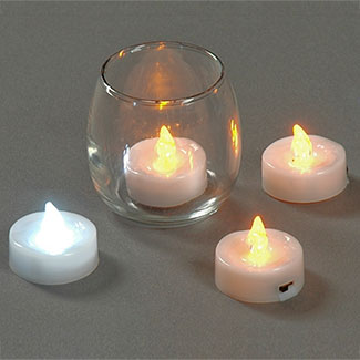 White Led Tea Light Floral Supply Syndicate Floral Gift Basket And Decorative Packaging