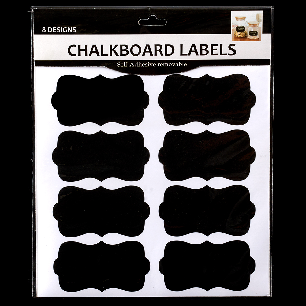 BOW CHALKBOARD LABELS