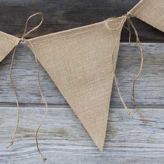 JUTE TRIANGLE BANNERS
