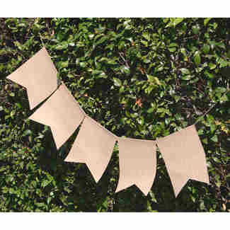 Burlap/Chalkboard Banners and Garlands