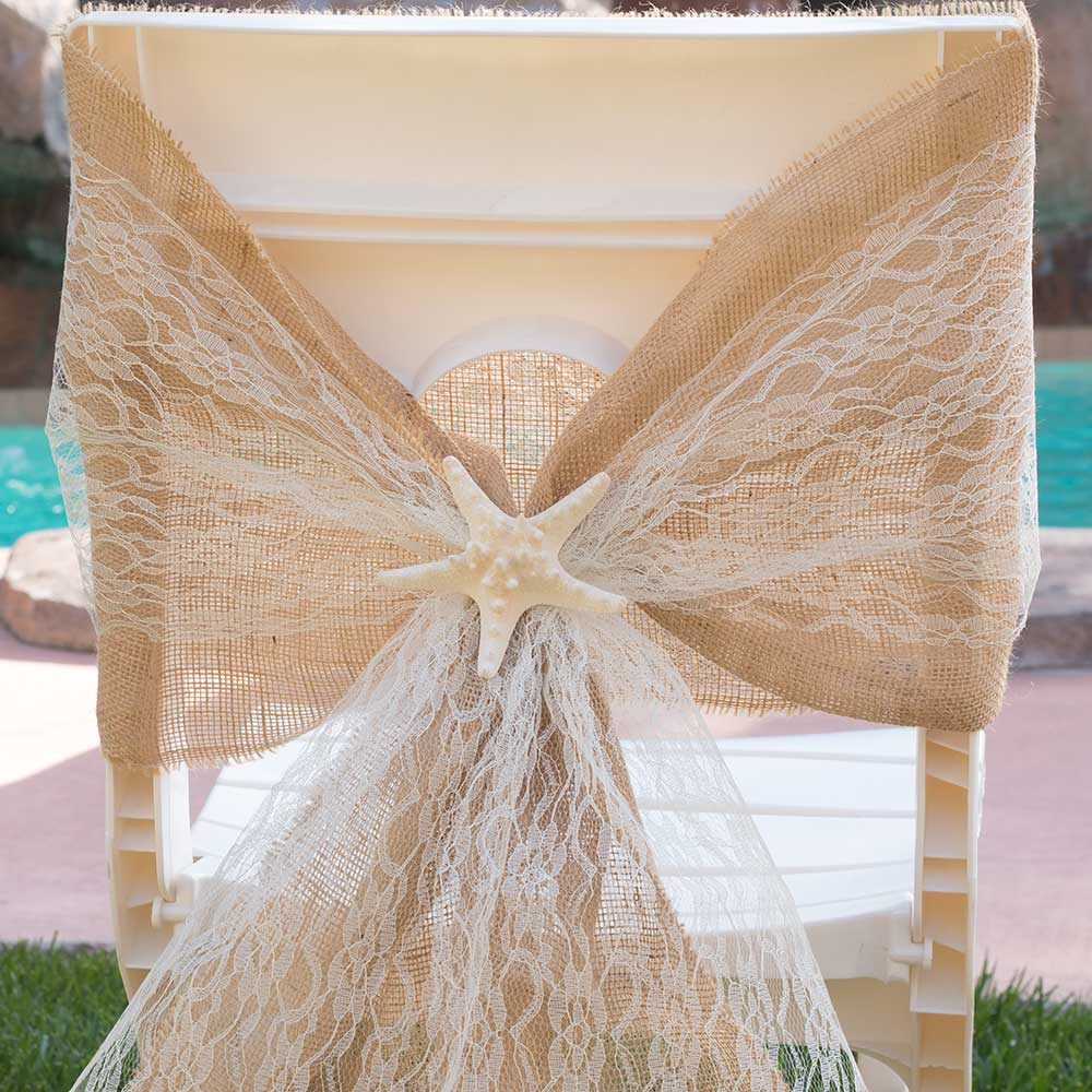 "9""X108"" LACE CHAIR SASH"