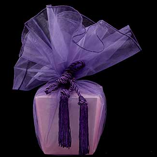 "28"" ORGANZA WRAPPER WITH TASSEL"