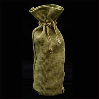 "15"" X6"" JUTE BOTTLE BAG"