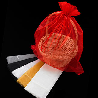 "25"" ORGANZA BASKET BAG"