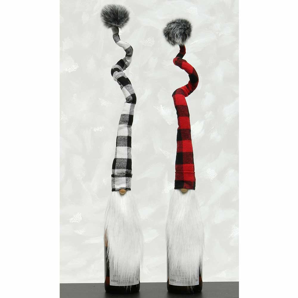 BUFFALO PLAID GNOME TOPPERS