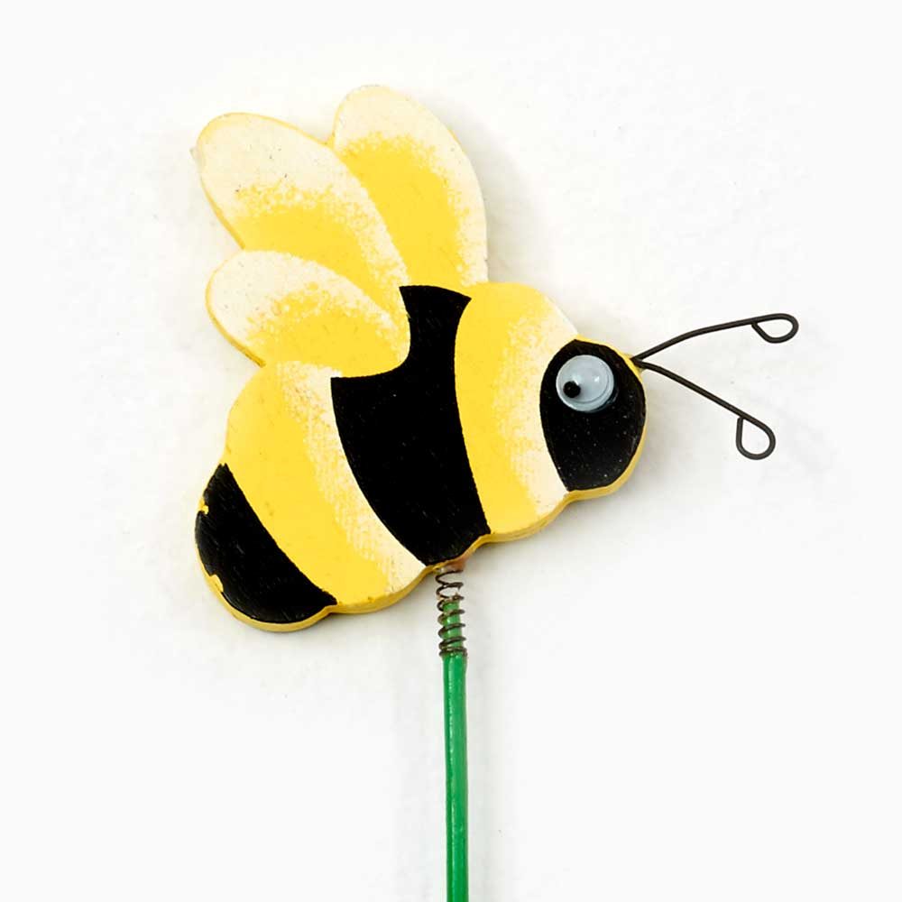 "2"" WOOD BUMBLE BEE PICKS"