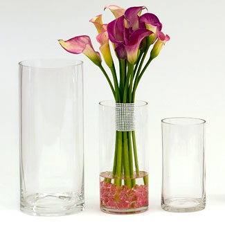 "GLASS   14""X6.25"" CYLINDER,CLEAR"