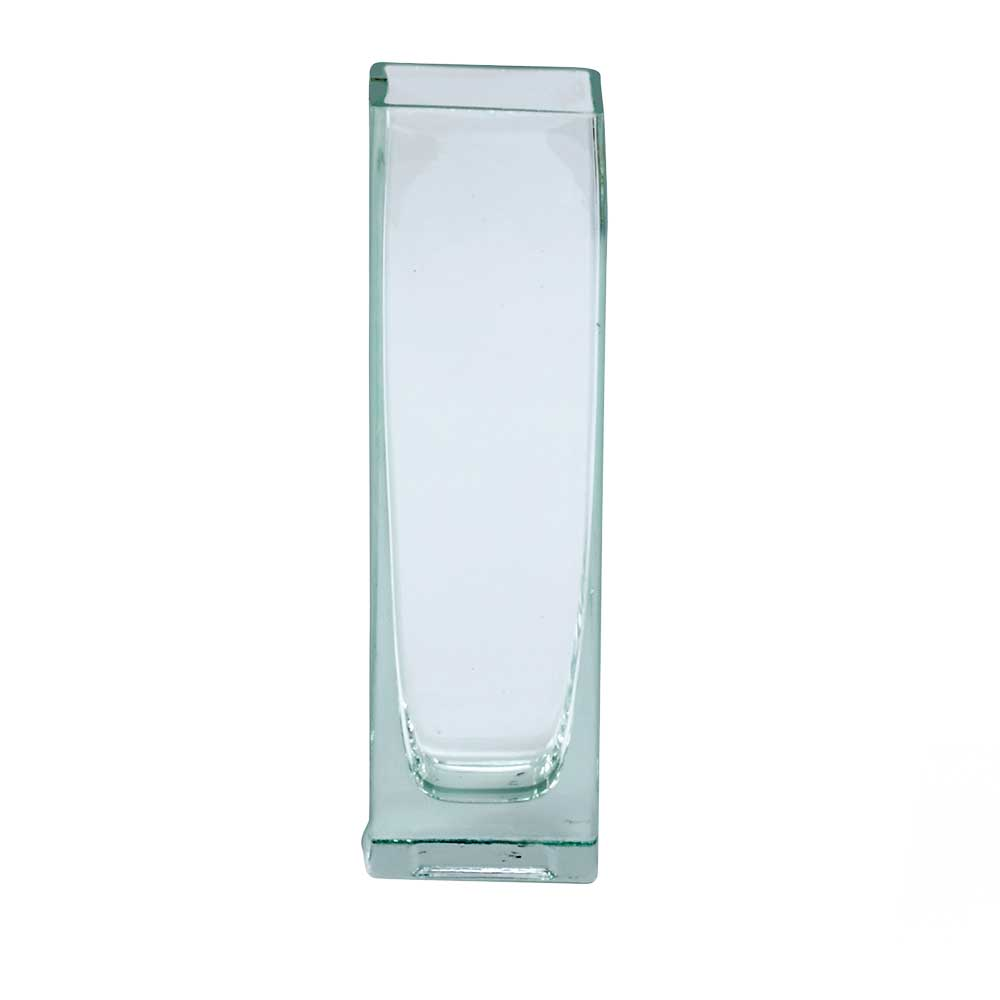 "GLASS   7.75"" X 2"" VASE,CLEAR"