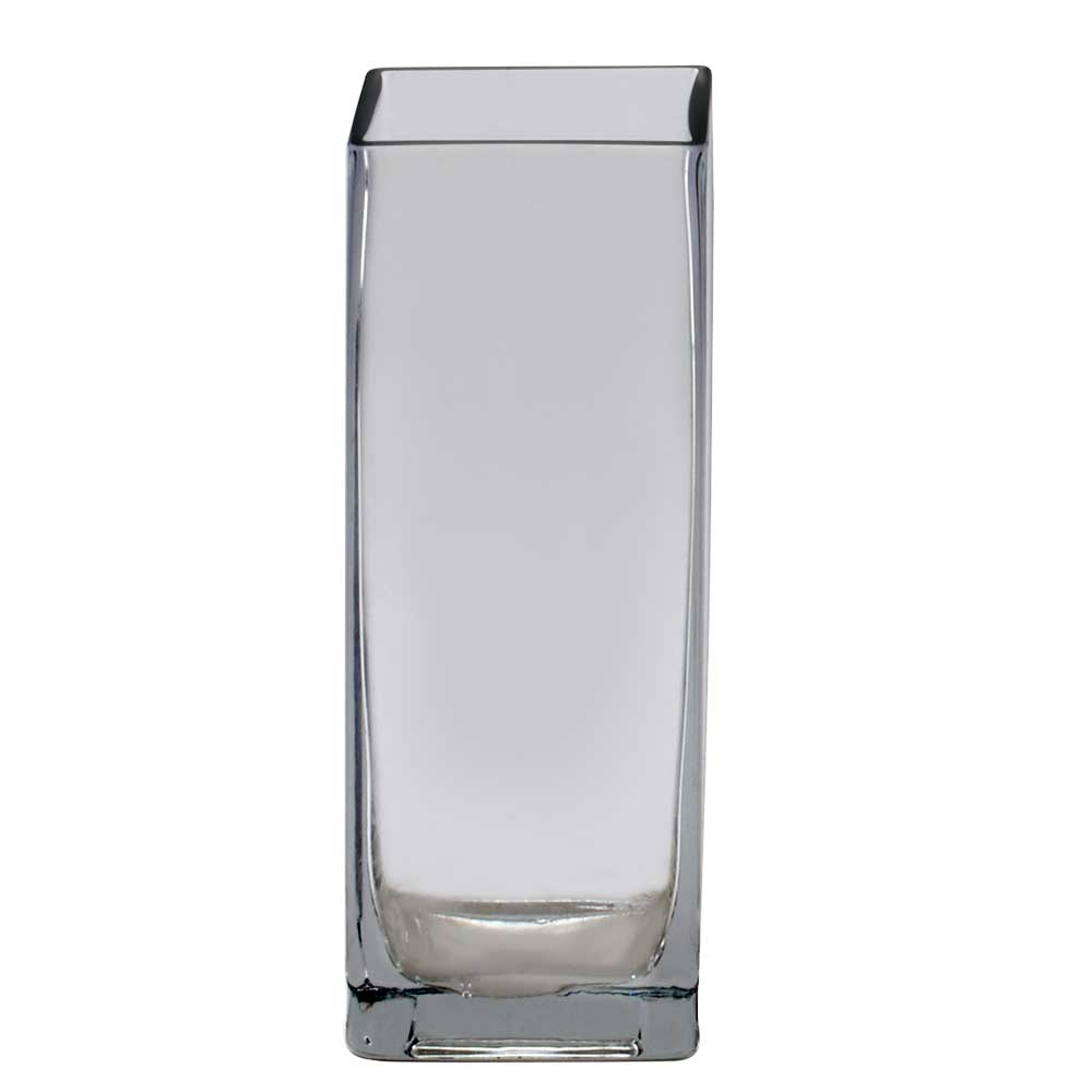 "GLASS   8"" X 2.75"" VASE,CLEAR"