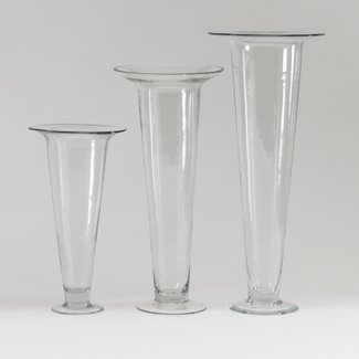Glass 28 X 6 25 Trumpet Vase Floral Supply Syndicate Floral Gift Basket And Decorative Packaging Materials